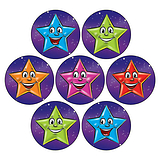 Mini Sheet of 35 Mixed Stars 20mm Circular Stickers