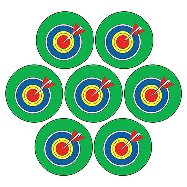 Mini Sheet of 35 Targets 20mm Circular Stickers