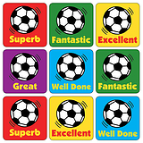 Football Stickers (35 Stickers - 20mm)