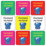 Mini Sheet of 35 Mixed Bumped Head 20mm Square Stickers