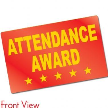 Pack of 10 Metallic Attendance CertifiCARDS
