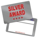 Metallic Silver Award CertifiCARDS (10 Wallet Sized Cards)