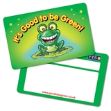 Pack of 10 Good to be Green CertifiCARDS