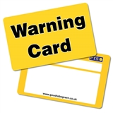 Pack of 10 Warning Cards CertifiCARDS