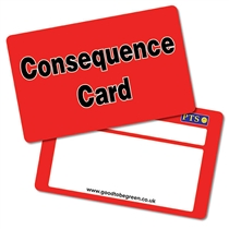'Consequence Card' CertifiCARDS Pack of 10