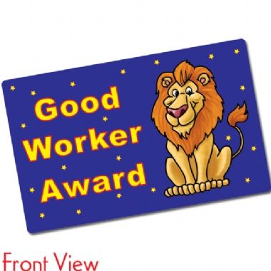 Pack of 10 Good Worker Award CertifiCARDS