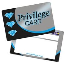 'Privilege Card' Metallic Plastic CertifiCARDS x 10