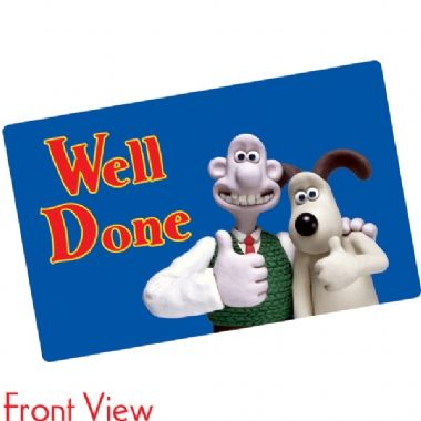 Pack of 10 Well Done Wallace & Gromit CertifiCARDS