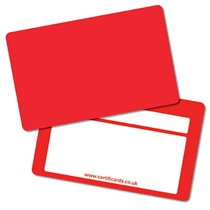 Blank Red Plastic CertifiCARDS x 10