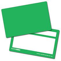 Blank Green Plastic CertifiCARDS x 10