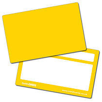 Blank Yellow Plastic CertifiCARDS x 10