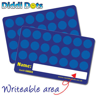 Pack of 10 Diddi Dots CertifiCARDS