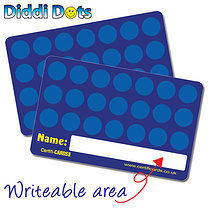 Blue Diddi Dots Collector Plastic CertifiCARDS x 10