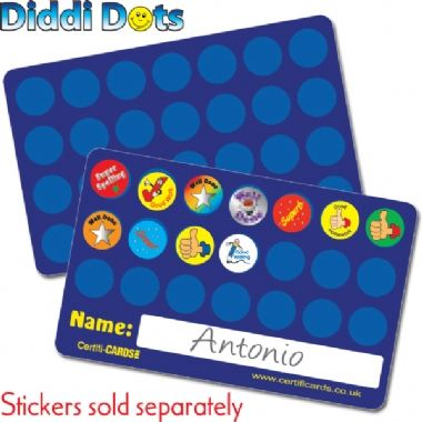 Sticker Collector Plastic CertifiCARDS - Diddi Dots (10 Wallet Sized Cards)