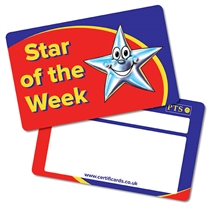 'Star of the Week' Plastic CertifiCARDS x 10