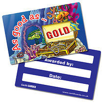 Pack of 10 Good As Gold CertifiCARDS