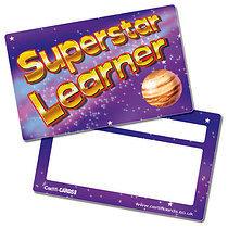 'Superstar Learner' Space Plastic CertifiCARDS x 10