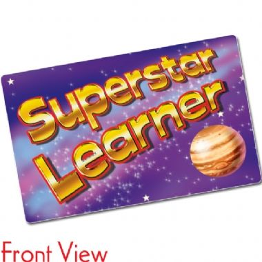 Superstar Learner Space CertifiCARDS (10 Cards - 86mm x 54mm)