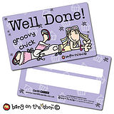 Groovy Chick Well Done CertifiCARDS (10 Cards - 86mm x 54mm)