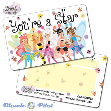 Pack of 10 You're a Star Secret Wings CertifiCARDS