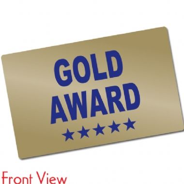 Pack of 10 Metallic Gold Award CertifiCARDS