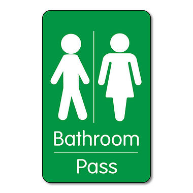 Classroom Bathroom Pass Pack of 10