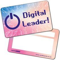 'Digital Leader!' Multicoloured CertifiCARDS x 10