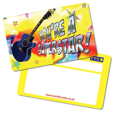 Pack of 10 You're a Superstar CertifiCARDS