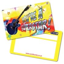'You're a Superstar' Guitar Plastic CertifiCARDS x 10