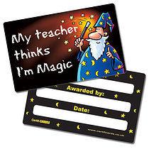 'My Teacher Thinks I'm Magic' Plastic CertifiCARDS x 10