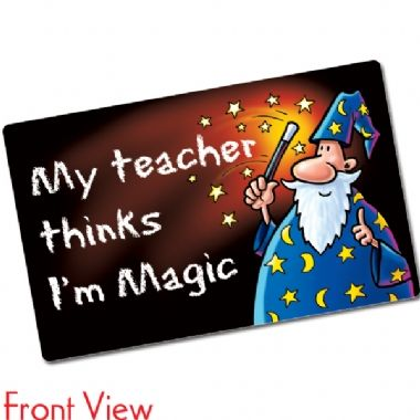 Pack of 10 My Teacher Thinks I'm Magic CertifiCARDS