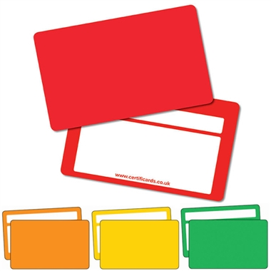 Plastic CertifiCARDS (10 Wallet Size Cards)