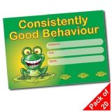 Pack of 20 Consistently Good Behaviour A5 Certificates