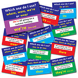 Pack of 12 A4 Literacy Common Mistakes Card Posters