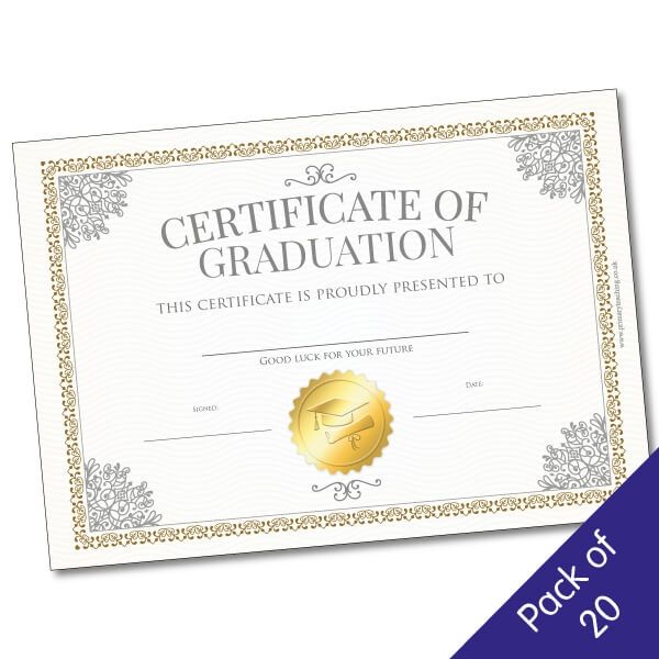 Certificate Of Graduation 210mm X 148mm Pack Of 20