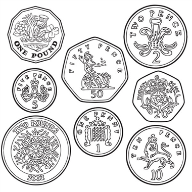 Set of 8 Coin Image Stampers