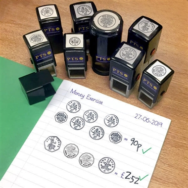 Coin Image Stampers - Black Ink (Set of 8 Stampers)