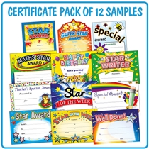 Mixed Teacher Certificates - SAMPLE Pack (A5 - 12 Certificates)