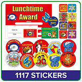 Lunchtime Value Pack (1112 Stickers - 100 Raffle Tickets - 20 Certificates)