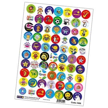 Value Pack of 700 Mixed 25mm Circular Stickers