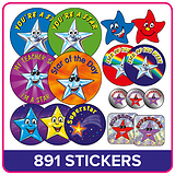 Stickers Value Pack - Stars and Superstars (891 Stickers)