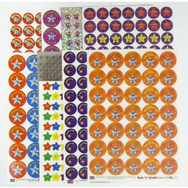 Value Pack of Mixed Stars & Superstars Stickers x 891