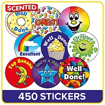 Scented Mixed Stickers Large 37mm x 280 Value Pack