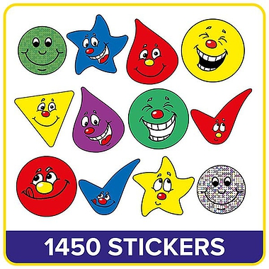Stickers Value Pack - Expressions (1330 Stickers)