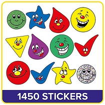 Value Pack of 970 Mixed Shape Expressions Stickers
