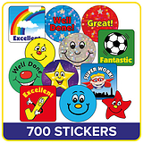 Value Pack of 610 Mixed 16mm & 20mm Stickers