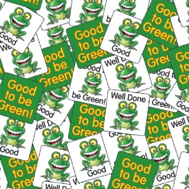 Value Pack of Good to be Green 16mm Square Stickers x 4480