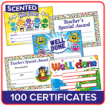Scented Certificates Value Pack (100 Certificates - A5)