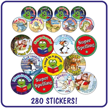 Value Pack of Reading & Spelling Reward Stickers x 280