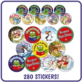 Stickers Value Pack - Reading and Spelling (280 Stickers)